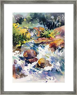 Watery Respite Framed Print