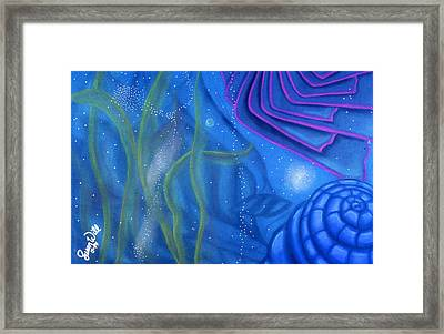 Framed Print featuring the pastel Watery by Susan Will