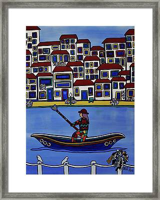 Watery Venice Framed Print by Barbara St Jean