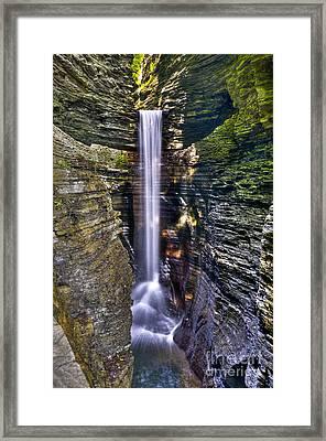 Watkins Glen Cascade Framed Print