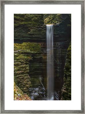 Watkins Glen Central Cascade Framed Print