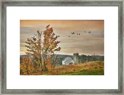 Watkins Glen Farm Framed Print by Lori Deiter