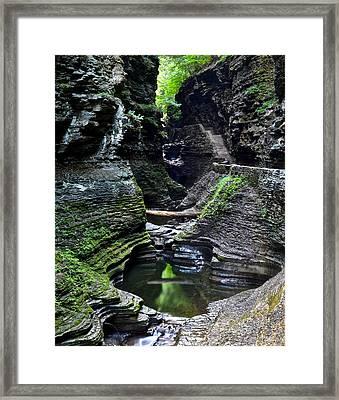 Watkins Glen Gorge Trail Framed Print