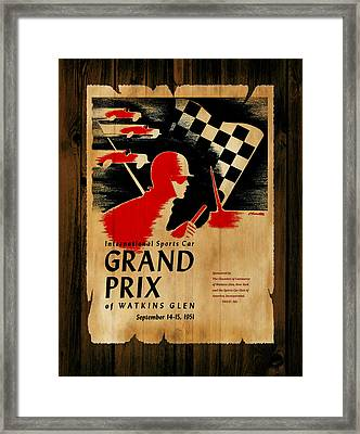 Watkins Glen Grand Prix 1951 Framed Print by Mark Rogan
