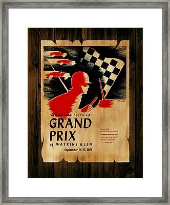 Watkins Glen Grand Prix 1951 Framed Print