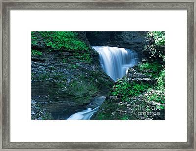 Watkins Glen In Spring Framed Print by Steve Clough