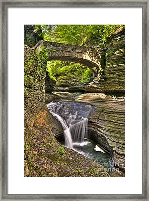 Watkins Glen Waterfalls Framed Print by Anthony Sacco