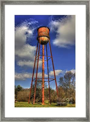 Rusty Water Historic Watkinsville Georgia Water Tower Framed Print by Reid Callaway