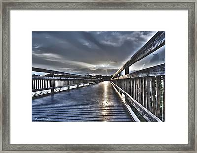 Watson Bayou Pier Hdr Framed Print