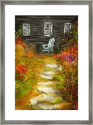 Watson Farm - Old Farmhouse Painting Framed Print