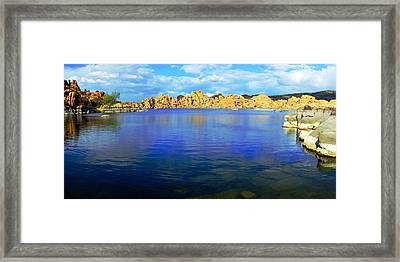 Watson Lake #2 Framed Print by Richard Henne