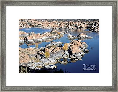 Watson Lake And The Granite Dells Framed Print