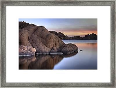 Watson Lake Arizona Colors Framed Print