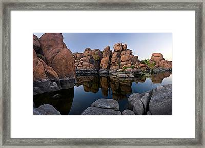 Watson Lake Arizona Reflections Framed Print by Dave Dilli