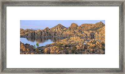 Watson Lake Framed Print by Christian Heeb