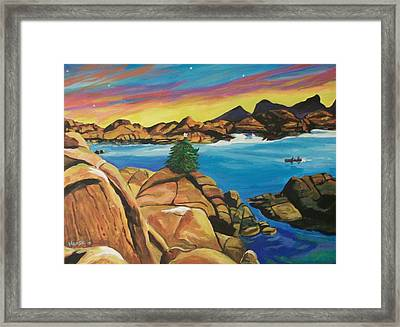 Watson Lake Christmas Framed Print by Kathleen Heese