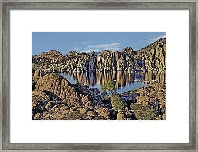 Watson Lake Framed Print by David Kehrli