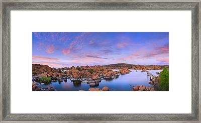 Watson Lake In Prescott - Arizona Framed Print by Henk Meijer Photography