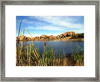 Watson Lake Framed Print