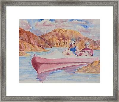 Watson Lake Framed Print by Melanie Harman