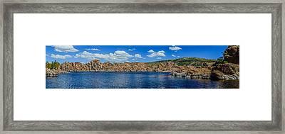 Watson Lake Panorama 1 Framed Print by Alan Marlowe
