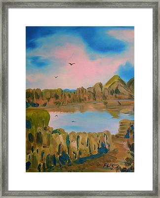 Watson Lake Prescott Arizona Framed Print by J FLoRian Dunn