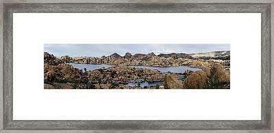 Watson Lake Framed Print by Richard Henne