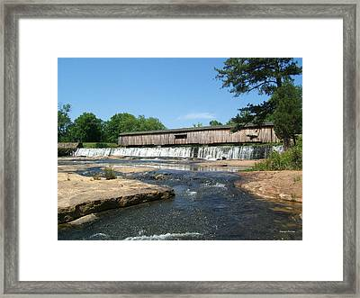 Watson Mill Covered Bridge 010 Framed Print