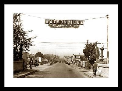 Watsonville Hathaway Framed Prints