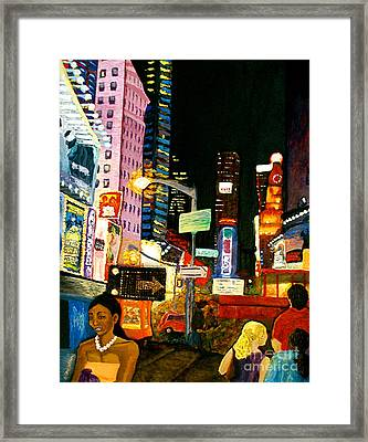 Framed Print featuring the painting Wattage by D Renee Wilson