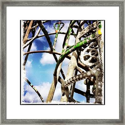 Watts Towers Green Framed Print by Judith Kitzes