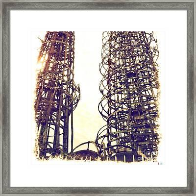 Watts Towers Framed Print