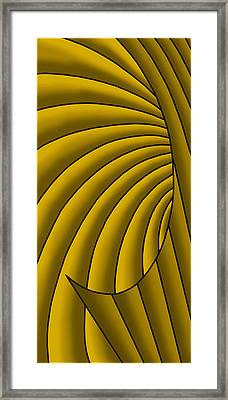 Framed Print featuring the digital art Wave - Golds by Judi Quelland