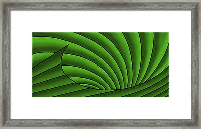 Framed Print featuring the digital art Wave - Greens by Judi Quelland