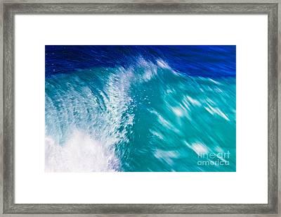 Wave 01 Framed Print