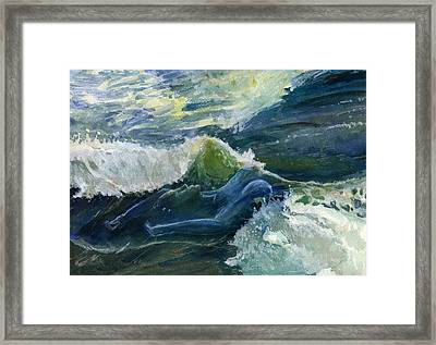 Wave 4 Framed Print