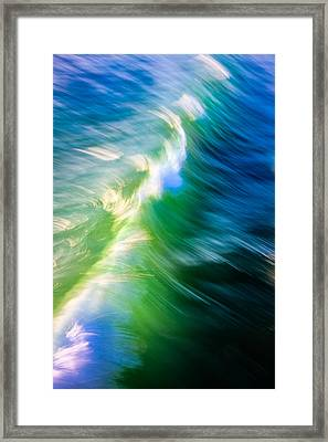 Framed Print featuring the photograph Wave Abstract Triptych 1 by Brad Brizek