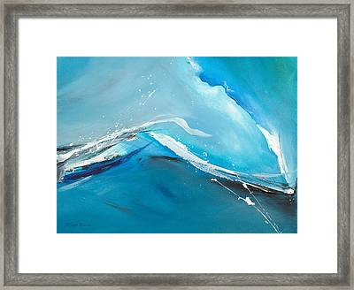 Wave Action Framed Print by Michelle Wiarda