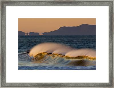 Framed Print featuring the photograph Wave And Island 73a5281 by David Orias