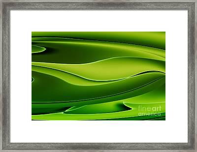 Wave Art V Framed Print by Ludek Sagi Lukac