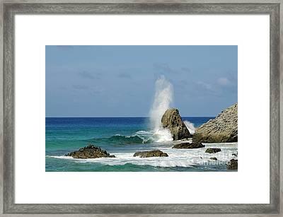 Wave At Boldro Beach Framed Print