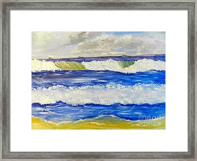 Wave At Bulli Beach Framed Print
