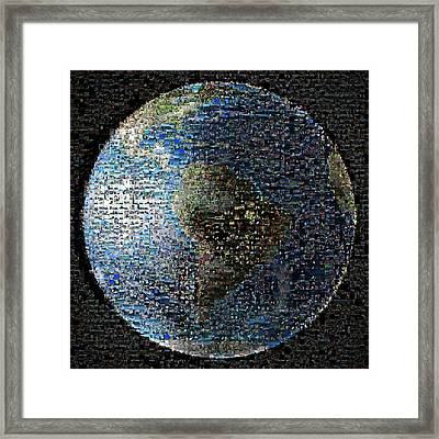 Wave At Earth Mosaic Framed Print by Nasa/jpl-caltech