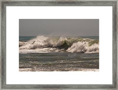 Framed Print featuring the photograph Wave At Kirk Creek Beach by Lee Kirchhevel