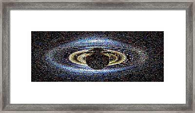 'wave At Saturn' Mosaic Framed Print by Nasa/jpl-caltech/ssi