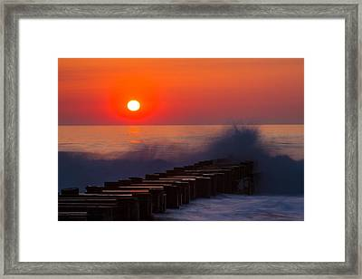 Breaking Wave At Sunrise Framed Print
