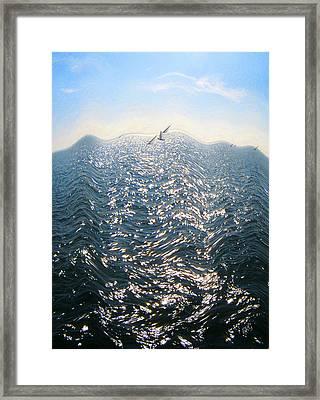 Wave Framed Print by Ben and Raisa Gertsberg
