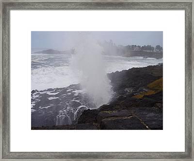 Wave Blast Framed Print by Yvette Pichette