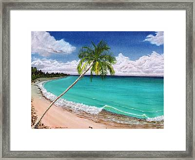 Wave Break Beach Framed Print