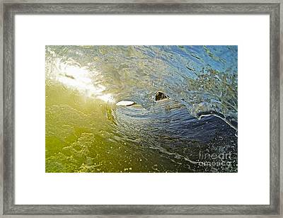 Wave Cave Framed Print by Paul Topp